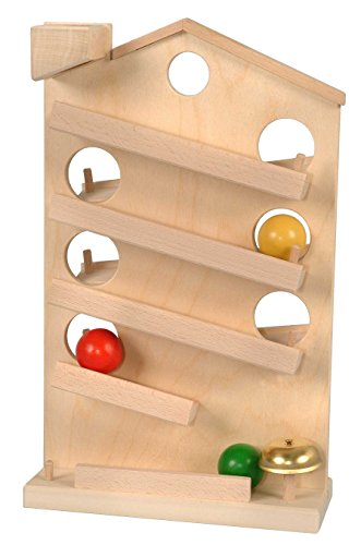 ABA Rolling Ball Chute House Natural w/Bell