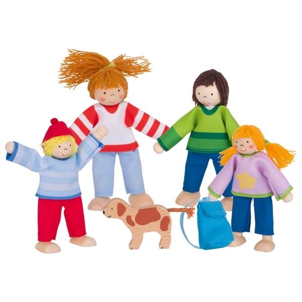 Goki Flexible Dolls Camping Family